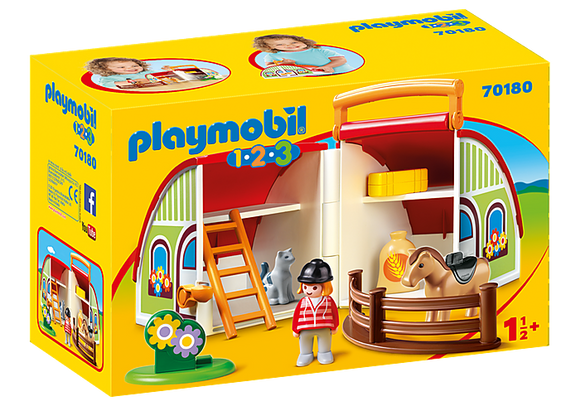 Playmobil 1.2.3 My Take Along Farm