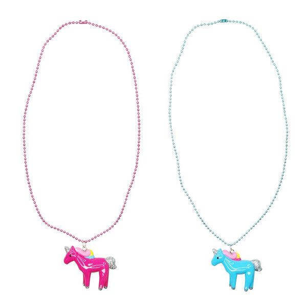 Pink Poppy Unicorn Necklace