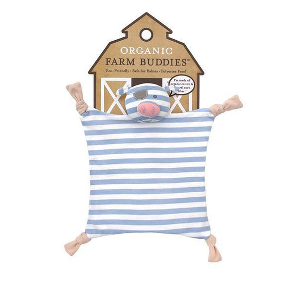 Apple Park Organic Farm Buddies Blankie – Pirate Pig