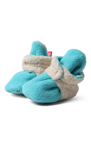 Zutano Cozie Baby Booties Furry Pool