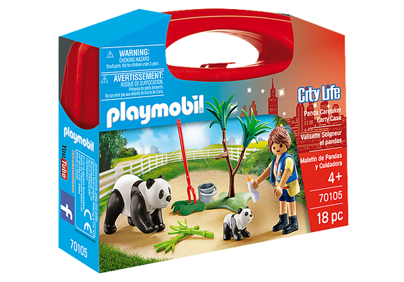 Playmobil City Life: Panda Caretaker Carry Case