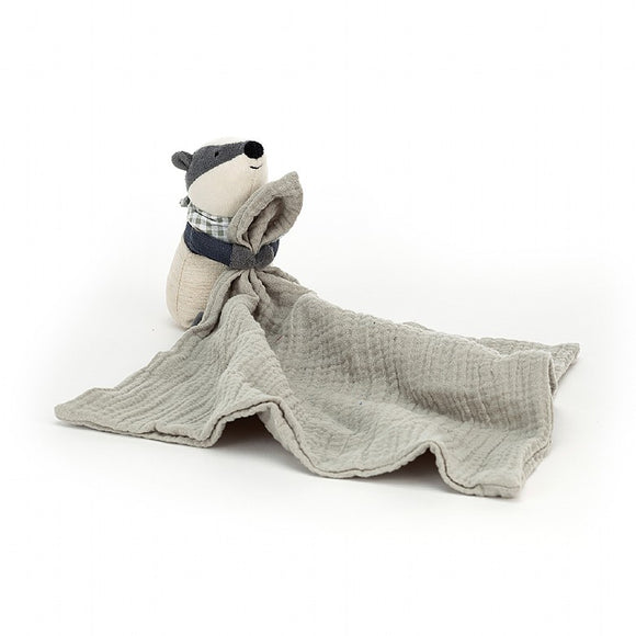 Little Jellycat Little Rambler Badger Soother 12