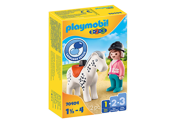 Playmobil 1.2.3 Rider with Horse