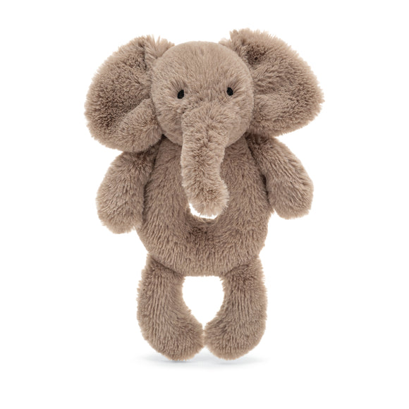 Little Jellycat Smudge Elephant Ring Rattle