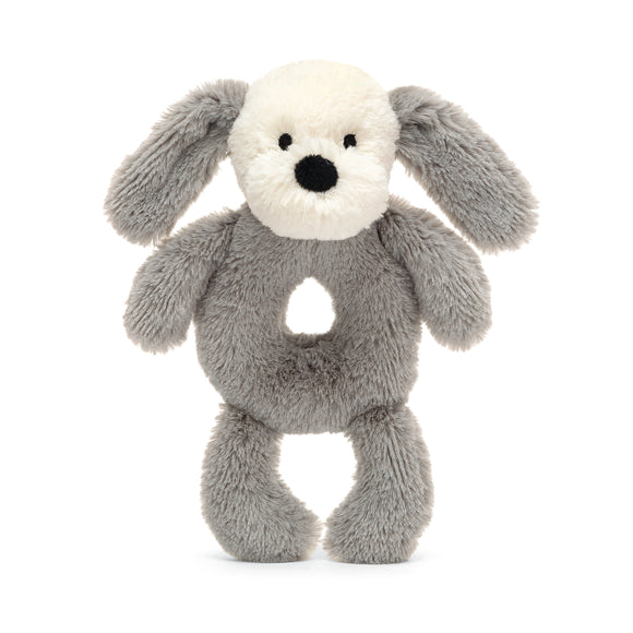 Little Jellycat Smudge Puppy Ring Rattle