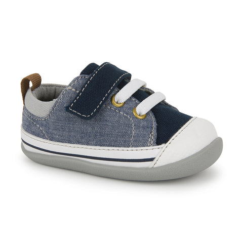 See Kai Run First Walker Stevie II Sneaker Blue Denim