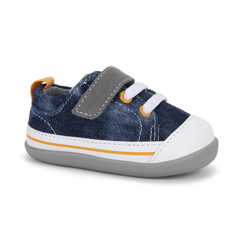 See Kai Run First Walker Stevie II Washed Denim