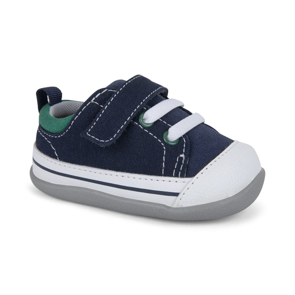 See Kai Run First Walker Stevie II Sneaker Navy/Green