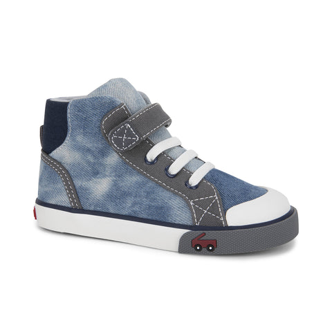 See Kai Run Dane Hightop Sneaker Washed Denim