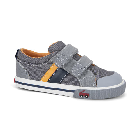 See Kai Run Russell Sneaker Gray/Orange