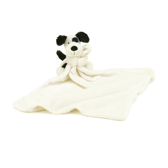 Little Jellycat Bashful Black and Cream Puppy Soother