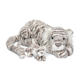 Jellycat Sacha Snow Tiger Little 11""