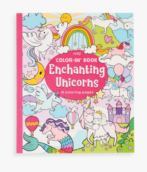 Ooly Color-In' Book - Enchanting Unicorns
