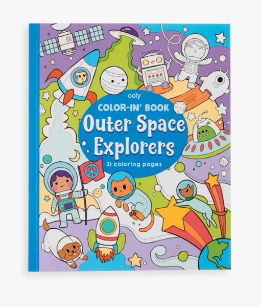 Ooly Color-In' Book - Outer Space Explorers