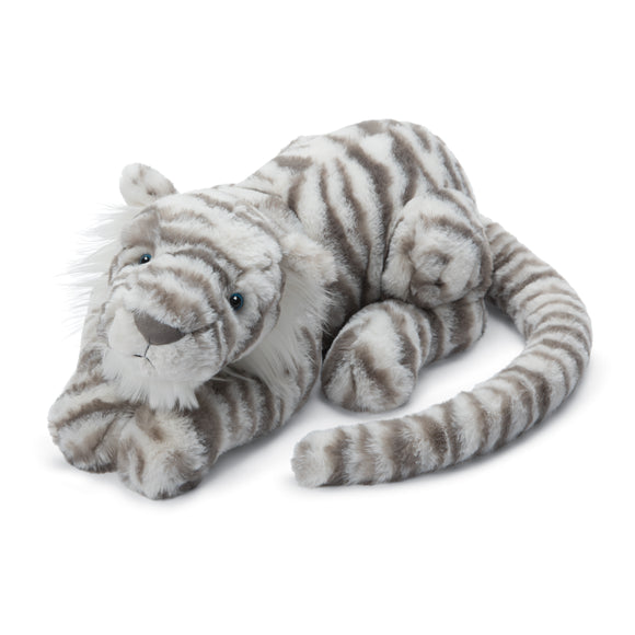 Jellycat Sacha Snow Tiger Little 11