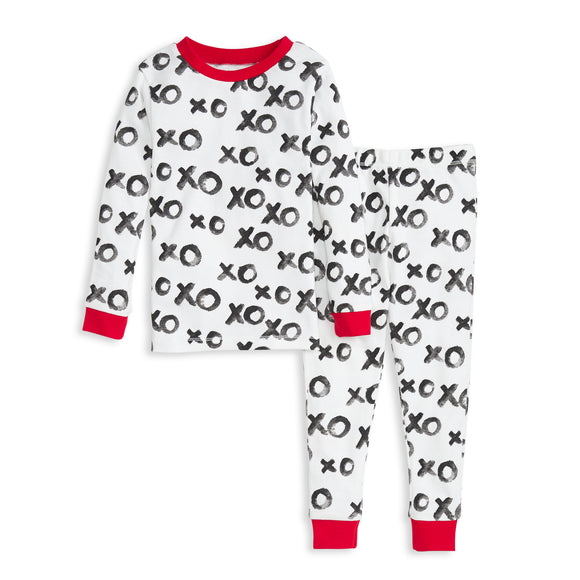 Burt's Bees Organic Two-Piece Pajamas Hugs & Kisses XOXO