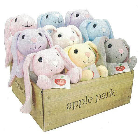 Apple Park Organic Plush Fuzzy Bunny Bushel Assortment