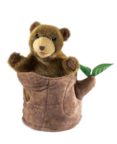 Folkmanis Bear In Tree Stump