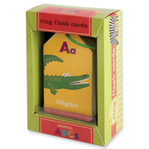 Mudpuppy Ring Flash Cards Animal ABCs