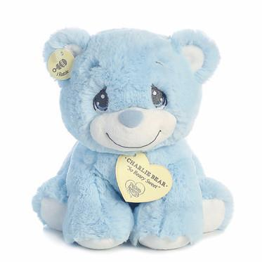 Aurora Precious Moments Charlie Bear Blue Small