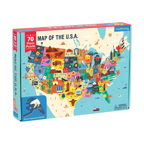 Mudpuppy 70 Piece Puzzle Map of the USA
