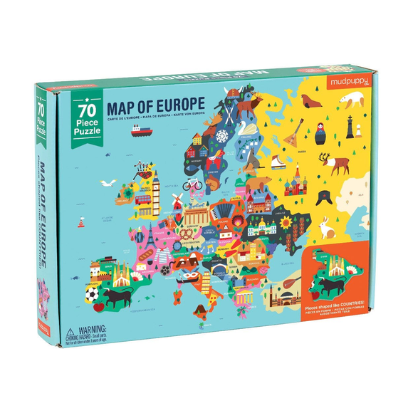 Mudpuppy 70 Piece Puzzle - Map of Europe