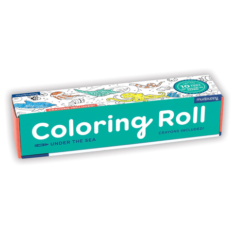 Mudpuppy Coloring Roll Under the Sea