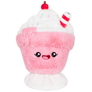 Squishable Strawberry Milk Shake 15""