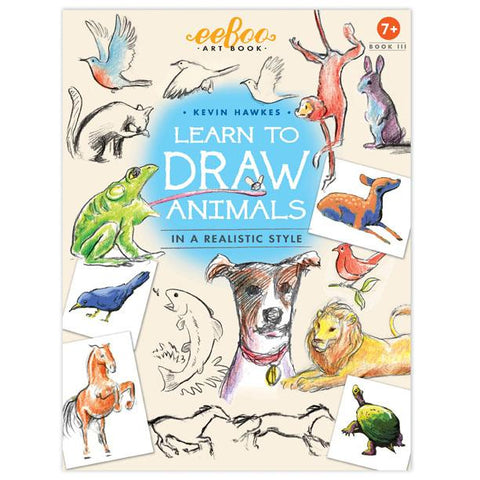 eeBoo Learn to Draw Animals Art Book