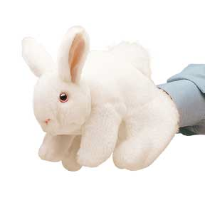 Folkmanis White Bunny Rabbit