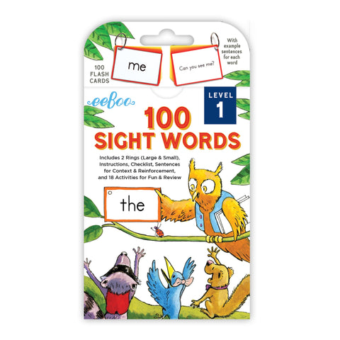 eeBoo Flash Cards - Sight Words Assortment