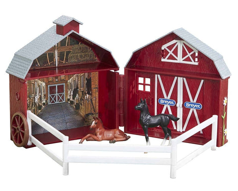 Breyer Friendship Foals Pocket Barn