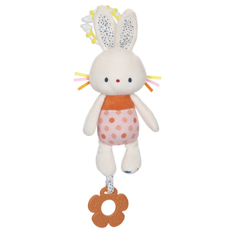 babyGUND Tinkle Crinkle Bunny Teether Activity Toy 13""