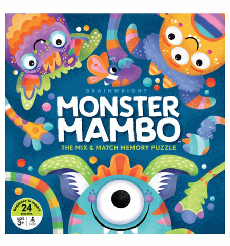 Brainwright Monster Mambo Mix & Match Memory Puzzle