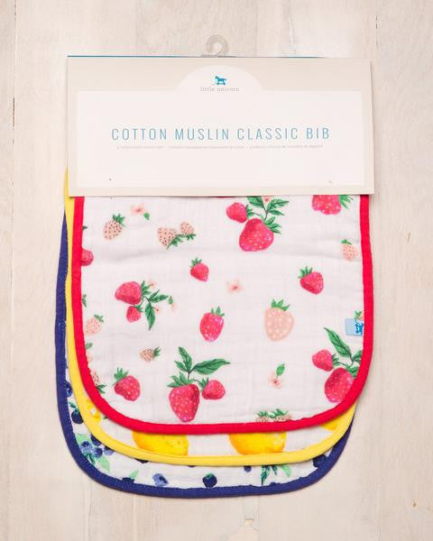 Little Unicorn Cotton Muslin Classic Bib Berry Lemonade