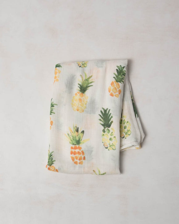 Little Unicorn Deluxe Muslin Swaddle Pineapple