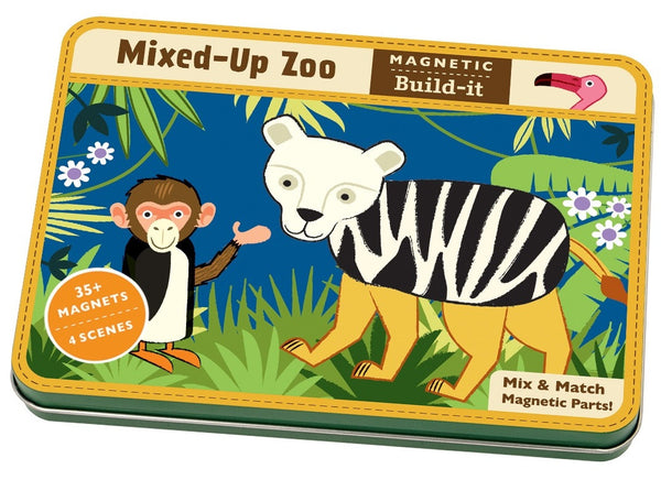 Mudpuppy Magnetic Build-It Mixed-Up Zoo