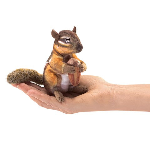 Folkmanis Mini Chipmunk with Acorn
