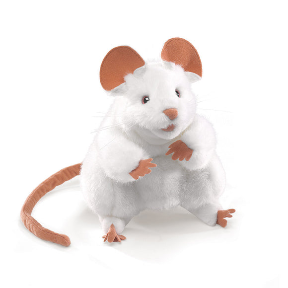 Folkmanis White Mouse