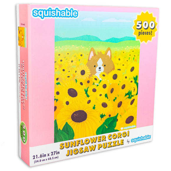 Squishable 500 Piece Sunflower Corgi Puzzle