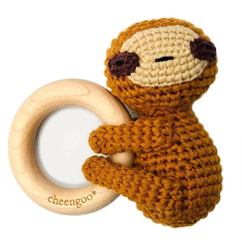Cheengoo LittleCuddler Teething Rattle Sloth