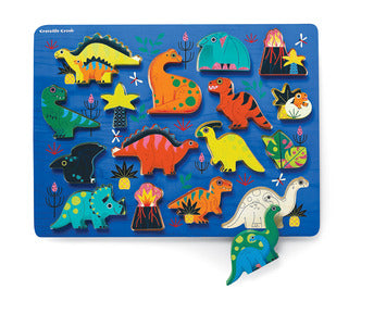 Crocodile Creek 16 Piece Chunky Wooden Puzzle - Dinosaurs