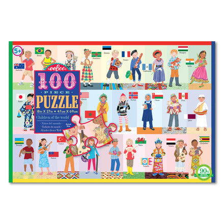 eeBoo 100 Piece Puzzle Children of the World