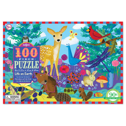 eeBoo 100 Piece Puzzle Life on Earth