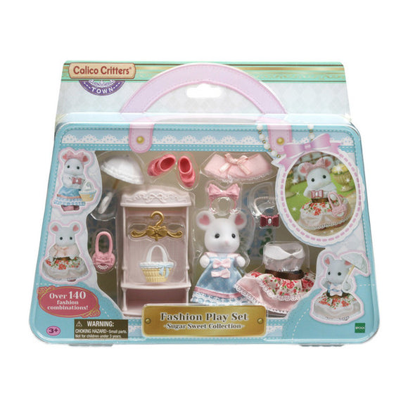 Calico Critters Fashion Play Set - Sugar Sweet Collection Marshmallow Mouse