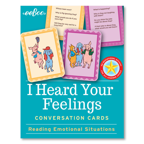 eeBoo Conversation Cards- I Heard Your Feelings