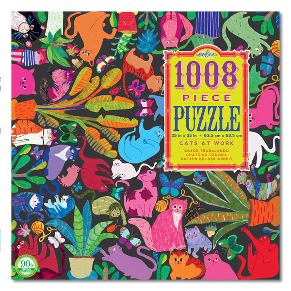 eeBoo 1000 Piece Puzzle Cats at Work