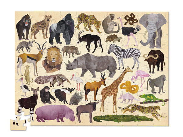 Crocodile Creek 100 Piece 36 Wild Animals Puzzle