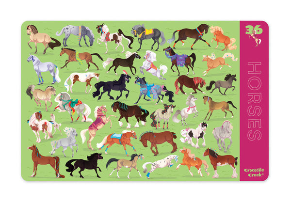 Crocodile Creek Placemat 36 Horses