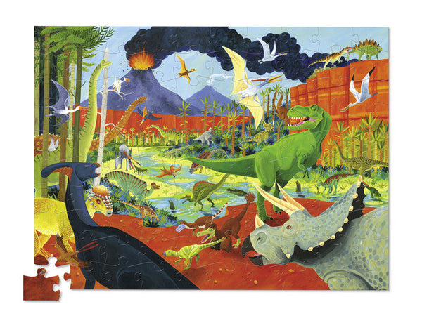 Crocodile Creek 100 Piece 36 Dinosaurs Puzzle
